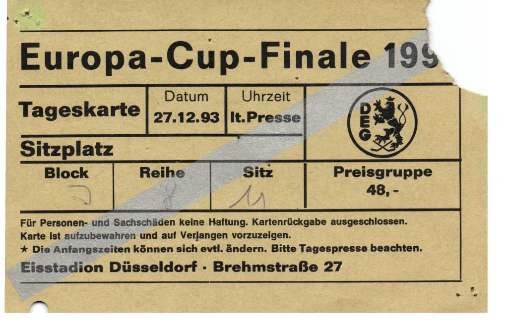 Mein DEG Moment: Europapokal 1993